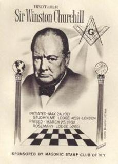 """Brother"" Winston Churchill's Freemason induction announcement."