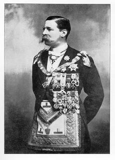 Henry James FitzRoy in full masonic regalia.