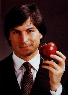 "Apple advertisement with Steve Jobs entitled ""Bite that Apple"" which parallels Lucifer enticing man to eat of the forbidden fruit."